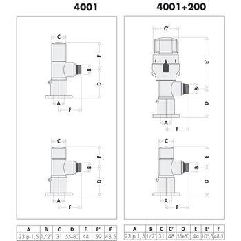 "Design Ventilset ""High-Style"" 1/2 Zoll verchromt für Heizkörper – Bild $_i"