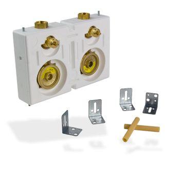 Wasserzähler Wasseruhr Miniblock Duo 3/4 Zoll IG Messing – Bild $_i