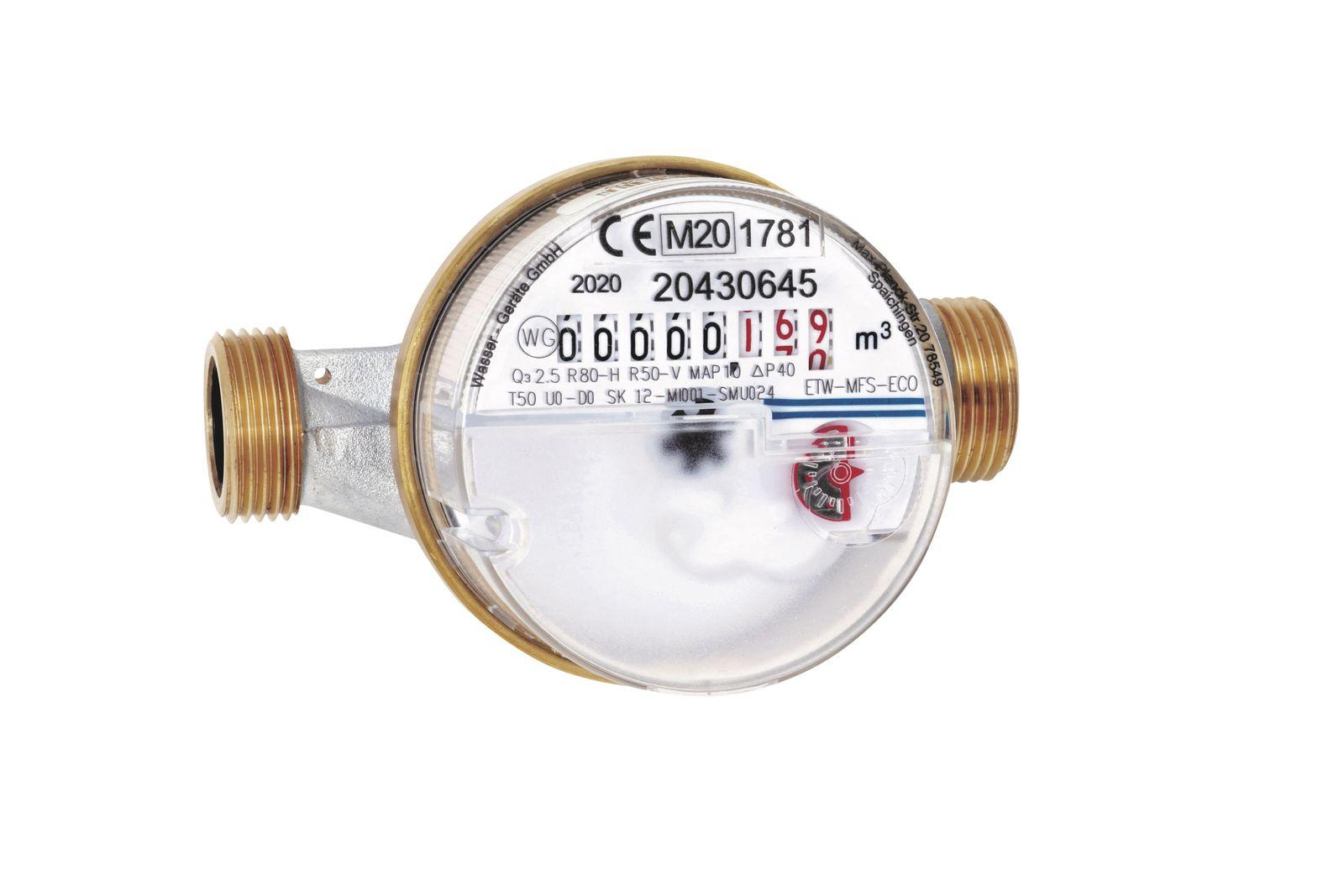 Wasserzahler Wasseruhr 1 2 Zoll X 110mm Kalt Geeicht Ebay