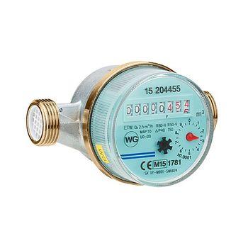 """Wasserzähler 1/2"""" DG Wasseruhr 3/4"""" AG x 80 mm - warm – Bild $_i"""