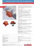 Klöber Venduct Lüfter-Set DN150 rot Universal Dunstabzug Abluft