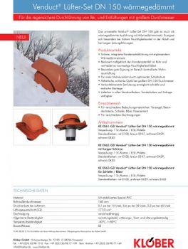 Klöber Venduct Lüfter-Set DN150 braun Universal Dunstabzug Abluft – Bild $_i