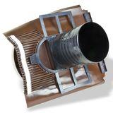 Klöber Venduct Lüfter-Set DN150 braun Universal Dunstabzug Abluft