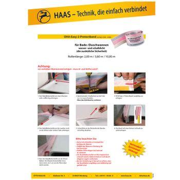 OHA-Easy-2-Protectband / Fugendichtband / Fugenband 2m für Duschwanne – Bild $_i