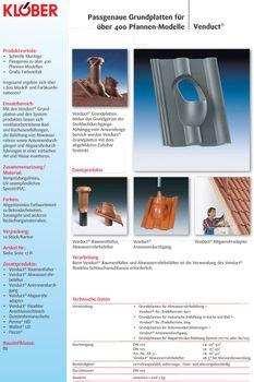Klöber-Set12 Dachentlüftung DN100 Braun kurz Universal Grundplatte – Bild $_i