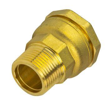 Messing Verschraubung 25 mm x 3/4 Zoll Aussengewinde PE-Rohr – Bild $_i