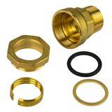 Caleffi Messing Verschraubung 32mm x 1  Aussengewinde Klemmverbinder PE-Rohr