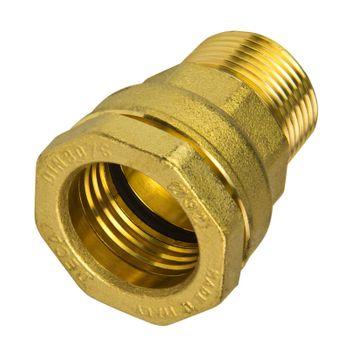 Messing Verschraubung 40 mm x 1 1/4 Zoll Aussengewinde PE-Rohr – Bild $_i