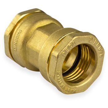 Messing Kupplung 63 x 63 mm Muffe Verschraubung PE-Rohr – Bild $_i