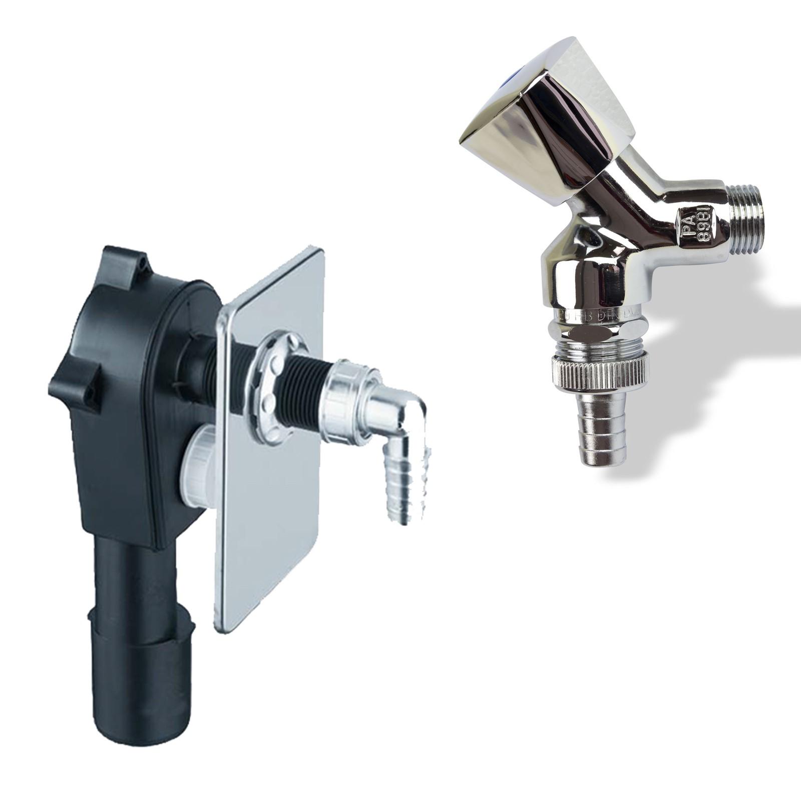 Anschluss-Set Unterputz Siphon Sifon DN188/188 und 18/18 Geräteventil