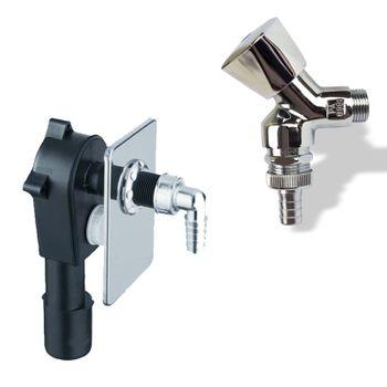 Anschluss-Set Unterputz Siphon Sifon DN50/40 und 1/2 Geräteventil Waschmaschine – Bild $_i