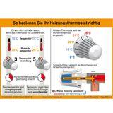 Thermostatkopf M30 x 1,5 Heizkörperthermostat Heizkörperregler
