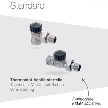 Ventilunterteil 1/2 Zoll Eck links Heizkörperventil Thermostatventil – Bild $_i
