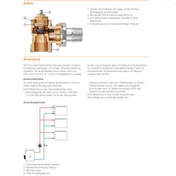 Ventilunterteil 1/2 Zoll Eck rechts Heizkörperventil Thermostatventil – Bild $_i