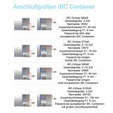 IBC Hahn S100x8 100mm IG PE Kunststoff Klappenhahn Container