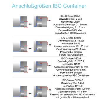 IBC Hahn S75x6 77mm ÜWM Ab-Sperrhahn Ablasshahn Auslaufhahn Container Kugelhahn – Bild $_i