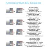 IBC Adapter 55/60 mm S60x6 mit flexiblem Ausgießer Container