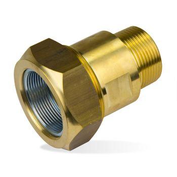 Messing Klemmverbinder Verschraubung 1 1/2 Zoll AG x 48,3 mm – Bild $_i