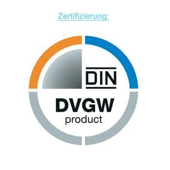 PE Rohr Hahn Kugelhahn 32mm PVC Absperrhahn Klemmverbinder Verschraubung – Bild $_i