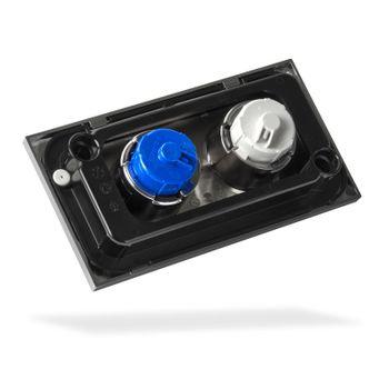 WISA XT Drückerplatte Juno DF Mattchrom Bedienungsplatte Betätigungsplatte – Bild $_i