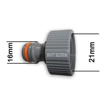 Kunststoff Steckkupplung 1/2 Zoll 21mm Hahnstück Hahnverbinder Adapter Hahn – Bild $_i