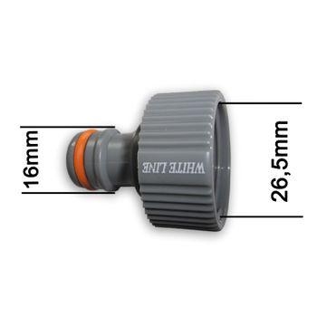 """Kunststoff Steckkupplung 3/4"""" 26,5mm Hahnstück Hahnverbinder Klick-Stecksystem – Bild $_i"""