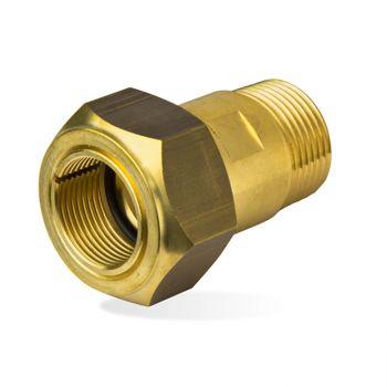 Messing Klemmverbinder Verschraubung 1/2 Zoll AG x 18mm Kupferrohr – Bild $_i