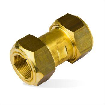 Klemmverbinder Kupplung 22x22mm Messing Verschraubung Kupferrohr – Bild $_i