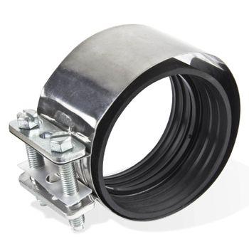 Edelstahl CV CE Verbinder DN 200 mm Schelle für Gussrohre – Bild $_i