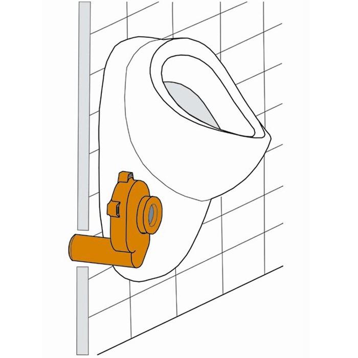 urinal pissoir anschlussgarnitur dn50 zulaufgarnitur ablaufgarnitur anschlu set ebay. Black Bedroom Furniture Sets. Home Design Ideas