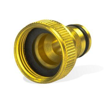 Messing Steckkupplung 1 Zoll 33,3mm Hahnstück Hahnverbinder Schnellkupplung – Bild $_i
