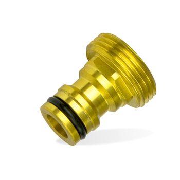 "Messing Hahnstück 1/2"" Zoll AG 21mm Hahnverbinder Steckkupplung – Bild $_i"
