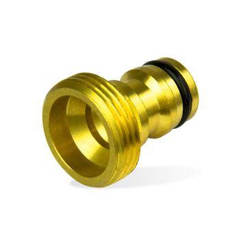 Messing Hahnstück 3/4 Zoll AG 26,5mm Hahnverbinder Steckkupplung – Bild $_i