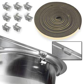 Edelstahl Waschbecken Spüle links Einbauspüle Küchenspüle oval – Bild $_i