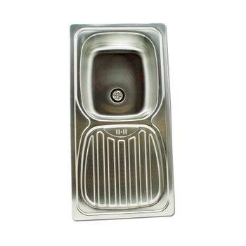 Edelstahl Einbauspüle Alfa1 Waschbecken Spüle Küchenspüle rechteckig – Bild $_i