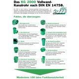 KG 2000 Rohr DN110 x 500 mm Abwasserrohr Kanalrohr grün