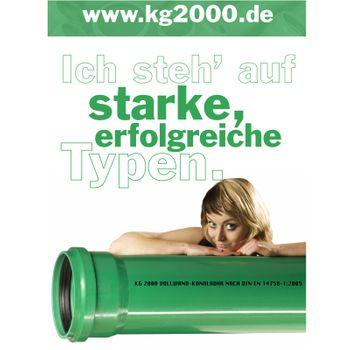 KG 2000 Rohr DN125 x 500 mm Abwasserrohr Kanalrohr grün – Bild $_i