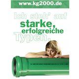 KG 2000 Bogen DN110/45° Abwasserrohr Kanalrohr grün