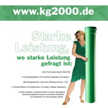 KG 2000 Bogen DN125/45° Abwasserrohr Kanalrohr grün – Bild $_i