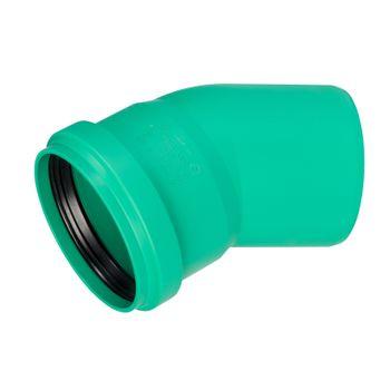 KG 2000 Bogen DN160/30° Abwasserrohr Kanalrohr grün – Bild $_i
