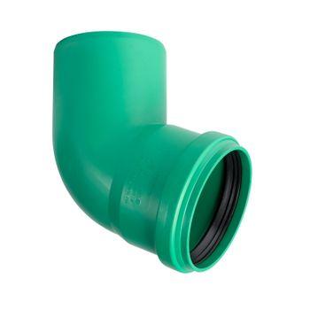 KG 2000 Bogen DN160/67° Abwasserrohr Kanalrohr grün – Bild $_i