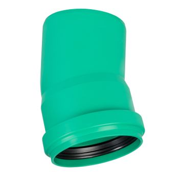 KG 2000 Bogen DN200/15° Abwasserrohr Kanalrohr grün – Bild $_i