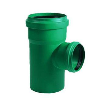 KG 2000 Abzweig DN125/125/45° Abwasserrohr Kanalrohr grün – Bild $_i