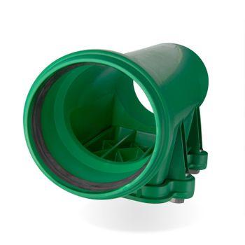 KG 2000 Reinigungsrohr DN200 Revisionsrohr Abwasserrohr grün – Bild $_i