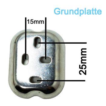 Edelstahl Bad Rollenhalter Toilettenpapierhalter matt gebürstet – Bild $_i