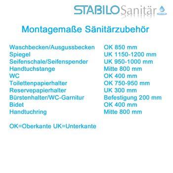 Edelstahl Bad Handtuchhalter 2er-Set Handtuchhaken matt gebürstet – Bild $_i