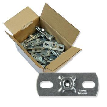 25x Montageplatte M8 Grundplatte 80 x 30 x 3mm verzinkt Gewindeplatte Gewindefuß – Bild $_i