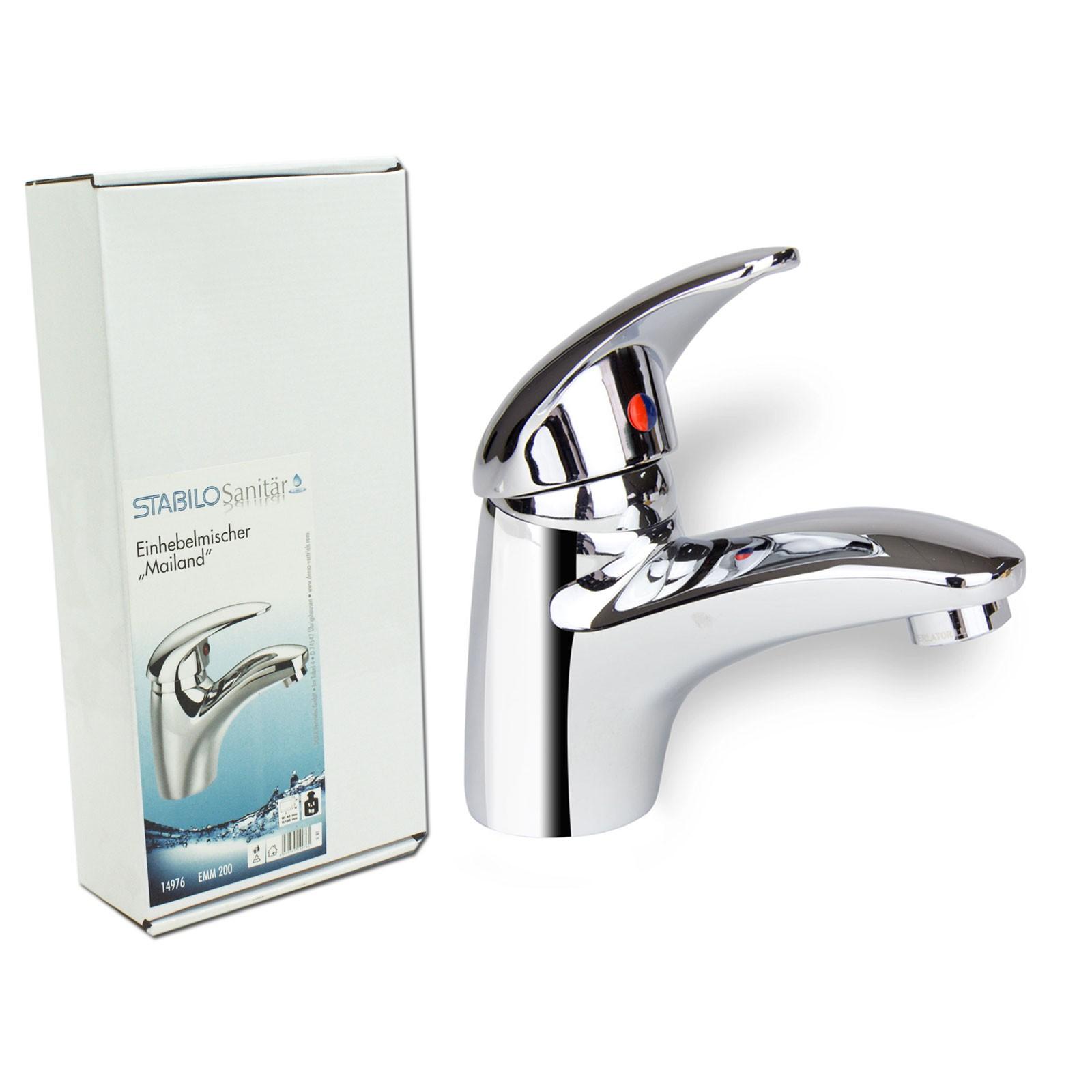 Badarmatur Mailand Mischbatterie Waschbecken Einhebelmischer Bad