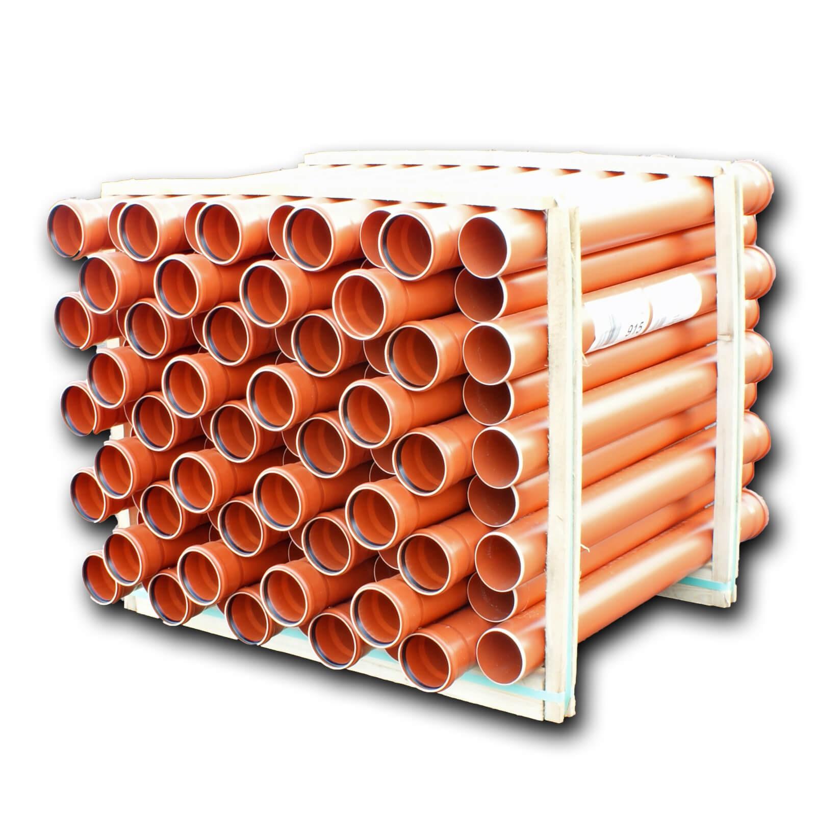 86x kg rohr dn110 1000mm 1m abwasserrohr 100mm kanalrohr orange. Black Bedroom Furniture Sets. Home Design Ideas