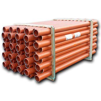 86x KG-Rohr DN110 2000mm 2m Abwasserrohr 100mm Kanalrohr orange – Bild $_i
